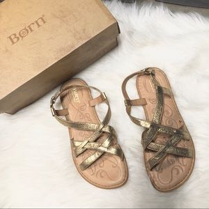 Born Shoes - Born Eryka Sandals Gold Metallic 9